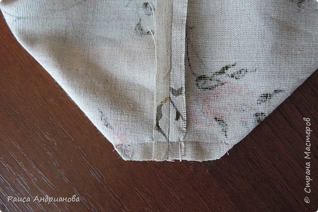 легкая летняя сумочка из льняной ткани фото 8