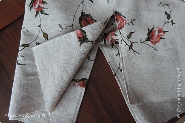 легкая летняя сумочка из льняной ткани фото 9