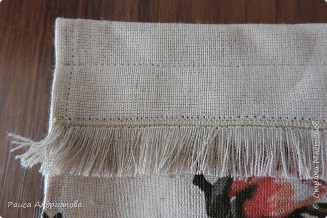 легкая летняя сумочка из льняной ткани фото 10