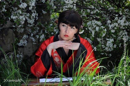 """Всем прекрасного настроения, СТРАНА!!! Продолжая серию """"Костюмы и образы своими руками или занятие для души"""" представляю вам новый образ - Китайская народная культура. Этот образ я придумала для своей сестрички Ксюши. Сначала хотела фотосет устроить в персиковом саду, но как всегда - то дождь, то все заняты, а ехать на машине 2 часа. Поэтому решили найти, что-то поближе и вот в 5 ти минутах ходьбы от дома цветущая вишня - тоже, красавица. фото 1"""