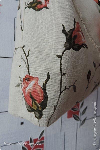 легкая летняя сумочка из льняной ткани фото 13
