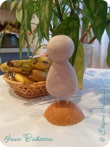 Куклы Мастер-класс Папье-маше Совушка на облаке  Бумага Клей Краска фото 9
