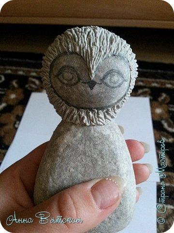 Куклы Мастер-класс Папье-маше Совушка на облаке  Бумага Клей Краска фото 14