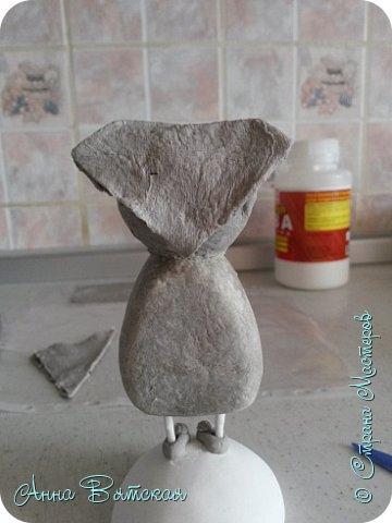 Куклы Мастер-класс Папье-маше Совушка на облаке  Бумага Клей Краска фото 31