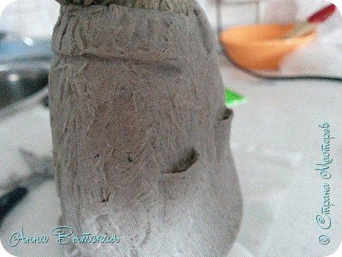 Куклы Мастер-класс Папье-маше Совушка на облаке  Бумага Клей Краска фото 43