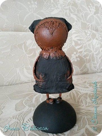 Куклы Мастер-класс Папье-маше Совушка на облаке  Бумага Клей Краска фото 47