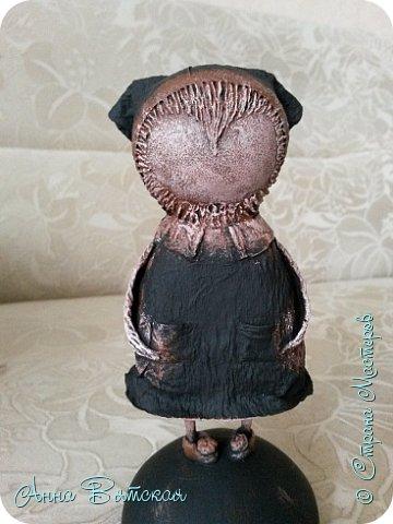 Куклы Мастер-класс Папье-маше Совушка на облаке  Бумага Клей Краска фото 48