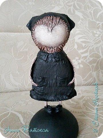 Куклы Мастер-класс Папье-маше Совушка на облаке  Бумага Клей Краска фото 49