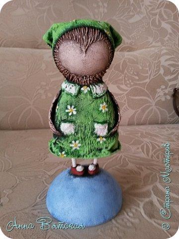 Куклы Мастер-класс Папье-маше Совушка на облаке  Бумага Клей Краска фото 50