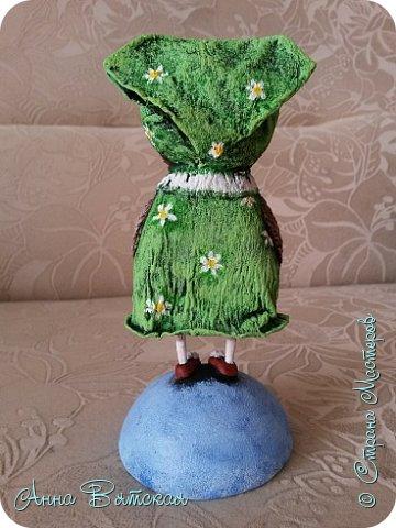 Куклы Мастер-класс Папье-маше Совушка на облаке  Бумага Клей Краска фото 51