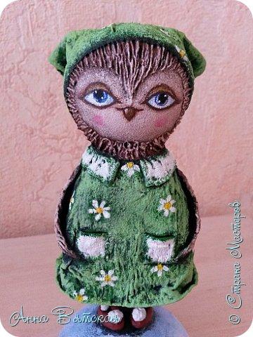 Куклы Мастер-класс Папье-маше Совушка на облаке  Бумага Клей Краска фото 53