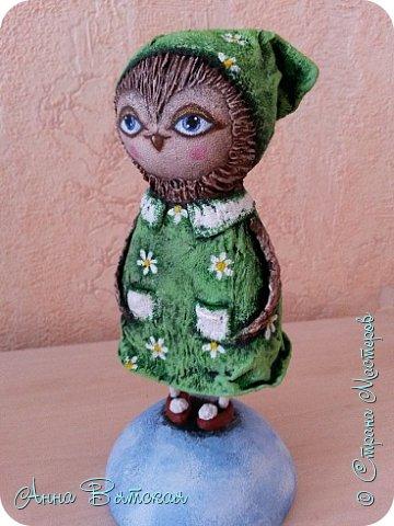Куклы Мастер-класс Папье-маше Совушка на облаке  Бумага Клей Краска фото 55