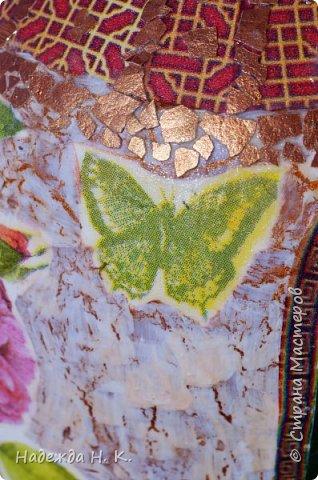 Декор предметов Мастер-класс Декупаж Кракелюр Китайская ваза из трехлитровой банки Банки стеклянные Краска Салфетки Скорлупа яичная фото 18