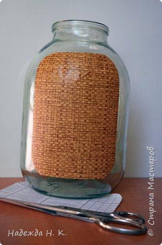 Декор предметов Мастер-класс Декупаж Кракелюр Китайская ваза из трехлитровой банки Банки стеклянные Краска Салфетки Скорлупа яичная фото 6
