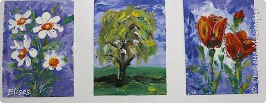 """Это мои творилки в совместнике на тему """"палькичовая"""" живопись, который открыла  Oksana Gordey. Перепачкалась вся. А вы попробуйте угадать, что получилась на что похоже. фото 2"""
