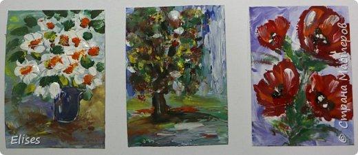 """Это мои творилки в совместнике на тему """"палькичовая"""" живопись, который открыла  Oksana Gordey. Перепачкалась вся. А вы попробуйте угадать, что получилась на что похоже. фото 3"""