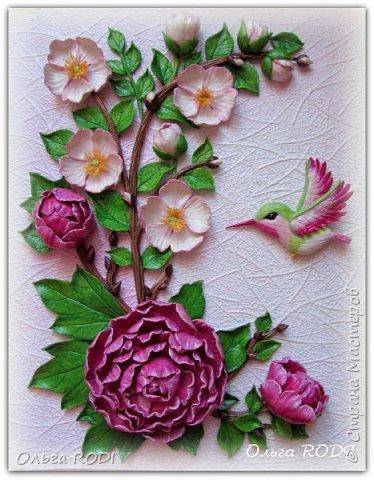"""Давно здесь не появлялась...Все время какие-то дела, заботы...Представляю одну из последних работ. Картина """"Райский сад"""" из соленого теста."""