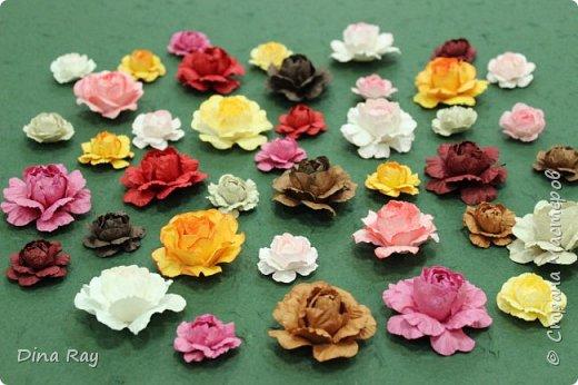 Цветы из тутовой бумаги своими руками