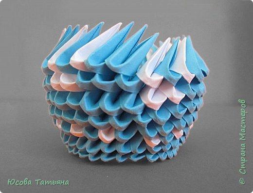 """Основу сервиза собирала по спирали (подробный способ сборки """"спираль"""" я описала в этом МК https://stranamasterov.ru/node/938113, а крышки, блюдце,  ручки и ложку - в обычной технике модульного оригами. фото 57"""