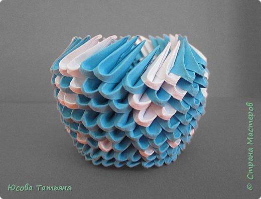 """Основу сервиза собирала по спирали (подробный способ сборки """"спираль"""" я описала в этом МК https://stranamasterov.ru/node/938113, а крышки, блюдце,  ручки и ложку - в обычной технике модульного оригами. фото 58"""