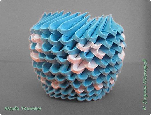 """Основу сервиза собирала по спирали (подробный способ сборки """"спираль"""" я описала в этом МК https://stranamasterov.ru/node/938113, а крышки, блюдце,  ручки и ложку - в обычной технике модульного оригами. фото 59"""