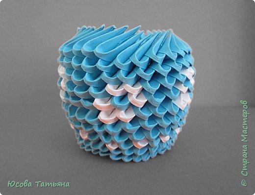 """Основу сервиза собирала по спирали (подробный способ сборки """"спираль"""" я описала в этом МК https://stranamasterov.ru/node/938113, а крышки, блюдце,  ручки и ложку - в обычной технике модульного оригами. фото 60"""