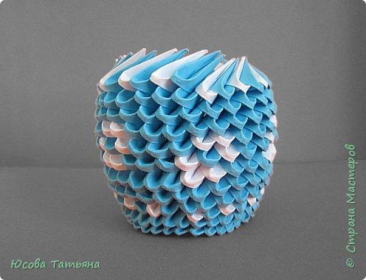 """Основу сервиза собирала по спирали (подробный способ сборки """"спираль"""" я описала в этом МК https://stranamasterov.ru/node/938113, а крышки, блюдце,  ручки и ложку - в обычной технике модульного оригами. фото 61"""