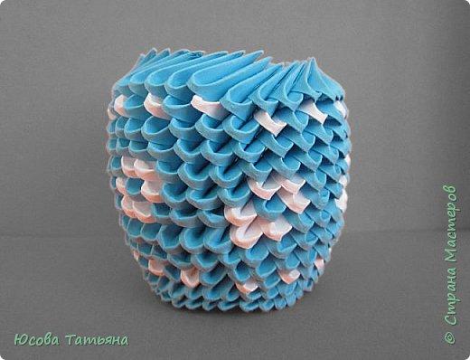 """Основу сервиза собирала по спирали (подробный способ сборки """"спираль"""" я описала в этом МК https://stranamasterov.ru/node/938113, а крышки, блюдце,  ручки и ложку - в обычной технике модульного оригами. фото 62"""