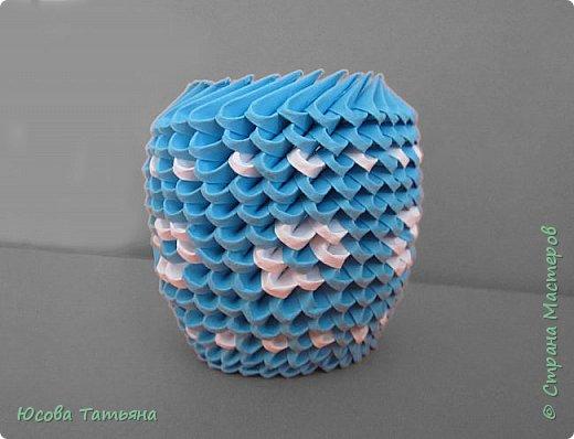 """Основу сервиза собирала по спирали (подробный способ сборки """"спираль"""" я описала в этом МК http://stranamasterov.ru/node/938113, а крышки, блюдце, ручки и ложку - в обычной технике модульного оригами. фото 63"""