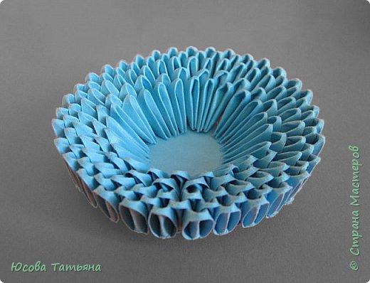 """Основу сервиза собирала по спирали (подробный способ сборки """"спираль"""" я описала в этом МК https://stranamasterov.ru/node/938113, а крышки, блюдце,  ручки и ложку - в обычной технике модульного оригами. фото 66"""
