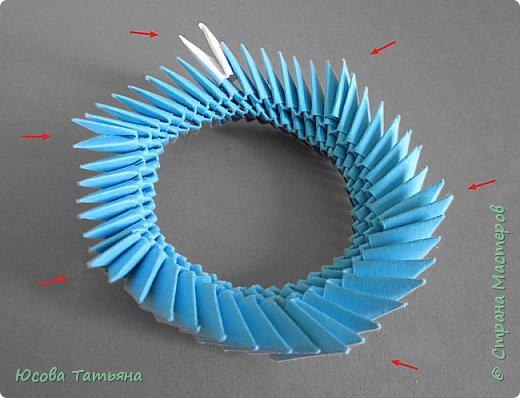 """Основу сервиза собирала по спирали (подробный способ сборки """"спираль"""" я описала в этом МК https://stranamasterov.ru/node/938113, а крышки, блюдце,  ручки и ложку - в обычной технике модульного оригами. фото 34"""
