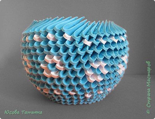 """Основу сервиза собирала по спирали (подробный способ сборки """"спираль"""" я описала в этом МК https://stranamasterov.ru/node/938113, а крышки, блюдце,  ручки и ложку - в обычной технике модульного оригами. фото 44"""
