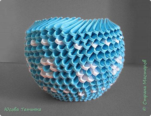 """Основу сервиза собирала по спирали (подробный способ сборки """"спираль"""" я описала в этом МК http://stranamasterov.ru/node/938113, а крышки, блюдце, ручки и ложку - в обычной технике модульного оригами. фото 45"""
