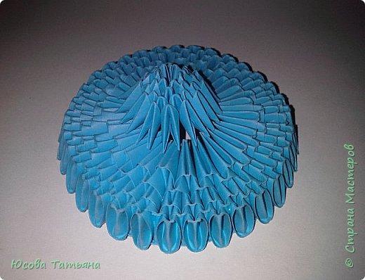 """Основу сервиза собирала по спирали (подробный способ сборки """"спираль"""" я описала в этом МК https://stranamasterov.ru/node/938113, а крышки, блюдце,  ручки и ложку - в обычной технике модульного оригами. фото 46"""