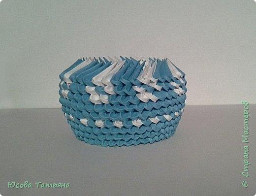 """Основу сервиза собирала по спирали (подробный способ сборки """"спираль"""" я описала в этом МК https://stranamasterov.ru/node/938113, а крышки, блюдце,  ручки и ложку - в обычной технике модульного оригами. фото 13"""