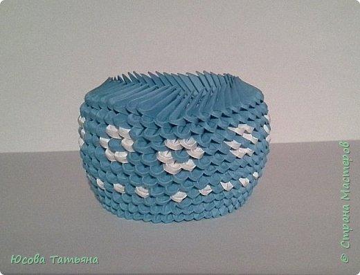 """Основу сервиза собирала по спирали (подробный способ сборки """"спираль"""" я описала в этом МК http://stranamasterov.ru/node/938113, а крышки, блюдце, ручки и ложку - в обычной технике модульного оригами. фото 15"""