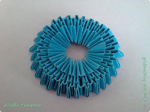 """Основу сервиза собирала по спирали (подробный способ сборки """"спираль"""" я описала в этом МК http://stranamasterov.ru/node/938113, а крышки, блюдце, ручки и ложку - в обычной технике модульного оригами. фото 25"""