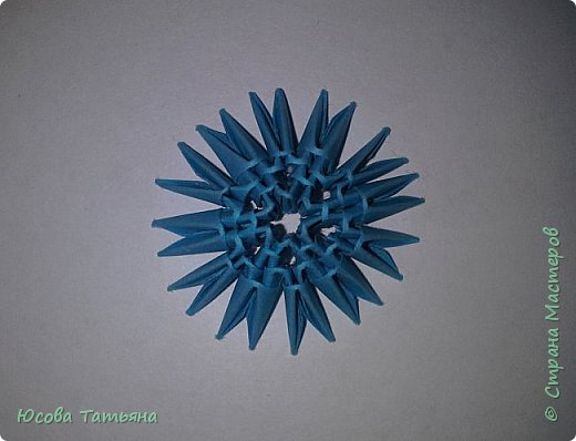 """Основу сервиза собирала по спирали (подробный способ сборки """"спираль"""" я описала в этом МК http://stranamasterov.ru/node/938113, а крышки, блюдце, ручки и ложку - в обычной технике модульного оригами. фото 28"""