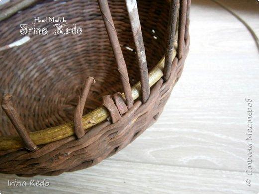 Мастер-класс Плетение Плетёное подвесное кашпо усовершенственное  Трубочки бумажные фото 6
