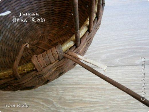 Мастер-класс Плетение Плетёное подвесное кашпо усовершенственное  Трубочки бумажные фото 7