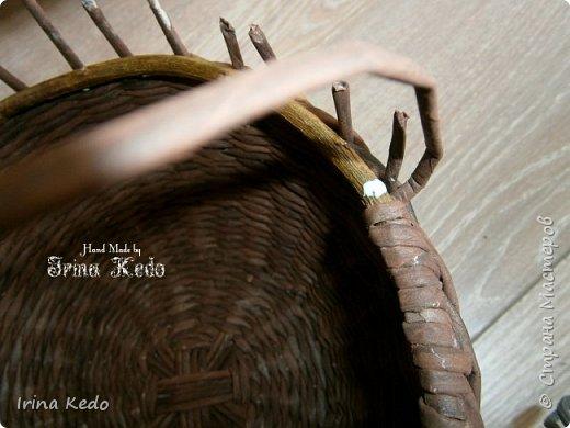 Мастер-класс Плетение Плетёное подвесное кашпо усовершенственное  Трубочки бумажные фото 8
