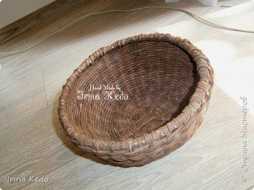 Мастер-класс Плетение Плетёное подвесное кашпо усовершенственное  Трубочки бумажные фото 10