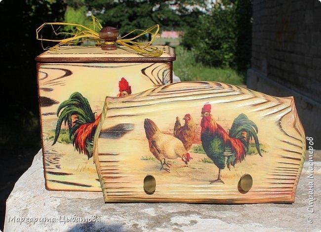 Декор предметов Мастер-класс Декупаж Ложный обжиг и браширование древесины Дерево Фанера фото 1