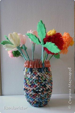 модульное оригами ваза лотос