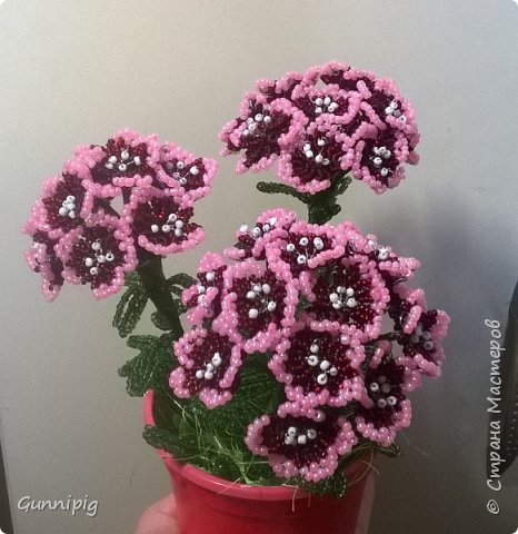 Здравствуйте. Сегодня хочу вам представить мастер-класс по плетению флоксов или турецкой гвоздики из бисера (ибо цветки у этих растений очень похожи, можно по данному МК плести как те, так и другие цветочки). Может кто-нибудь тоже захочет создать для себя или в подарок эти замечательные цветы! Флоксы - богатая тема для фантазии, ибо расцветок, форм и видов этих растений очень много! Я решила сплести двухцветные флоксы. Приступим) фото 22