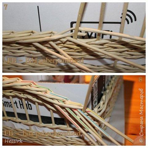 Мастер-класс Поделка изделие Плетение Красивая загибка мастер класс Трубочки бумажные фото 5