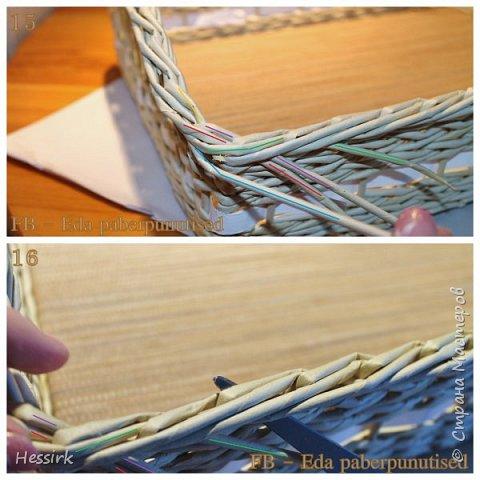 Мастер-класс Поделка изделие Плетение Красивая загибка мастер класс Трубочки бумажные фото 9
