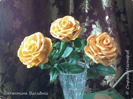 Здравствуйте жители Страны Мастеров.У меня новая попытка сделать розы с холодного фарфора.Выношу на ваше обозрение. фото 6