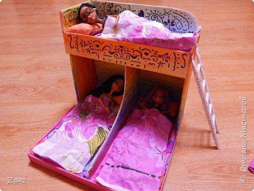 Как сделать кровать из бумаги для кукол видео для