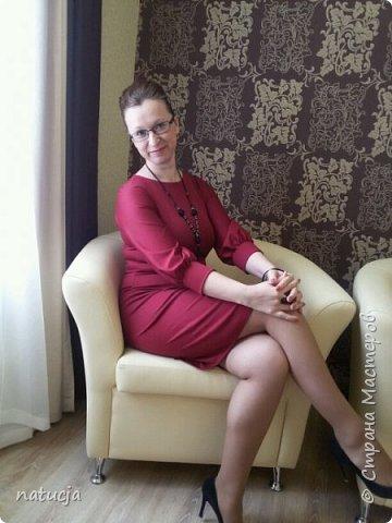 """трикотажное платье. выкройка взята с сайта """" леко"""""""